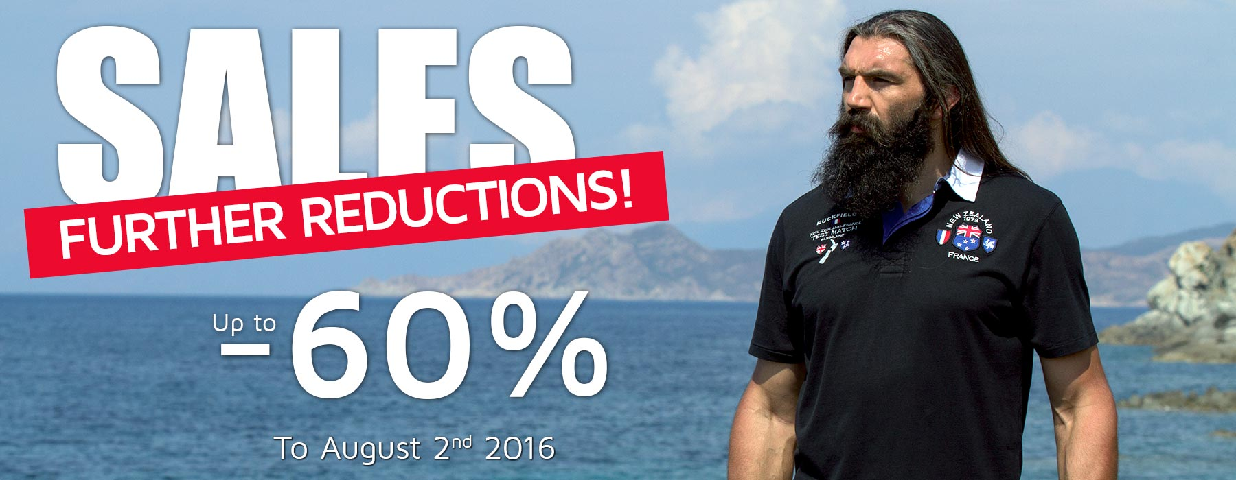 Ruckfiled and Sebastien Chabal Sales! Up to -60%