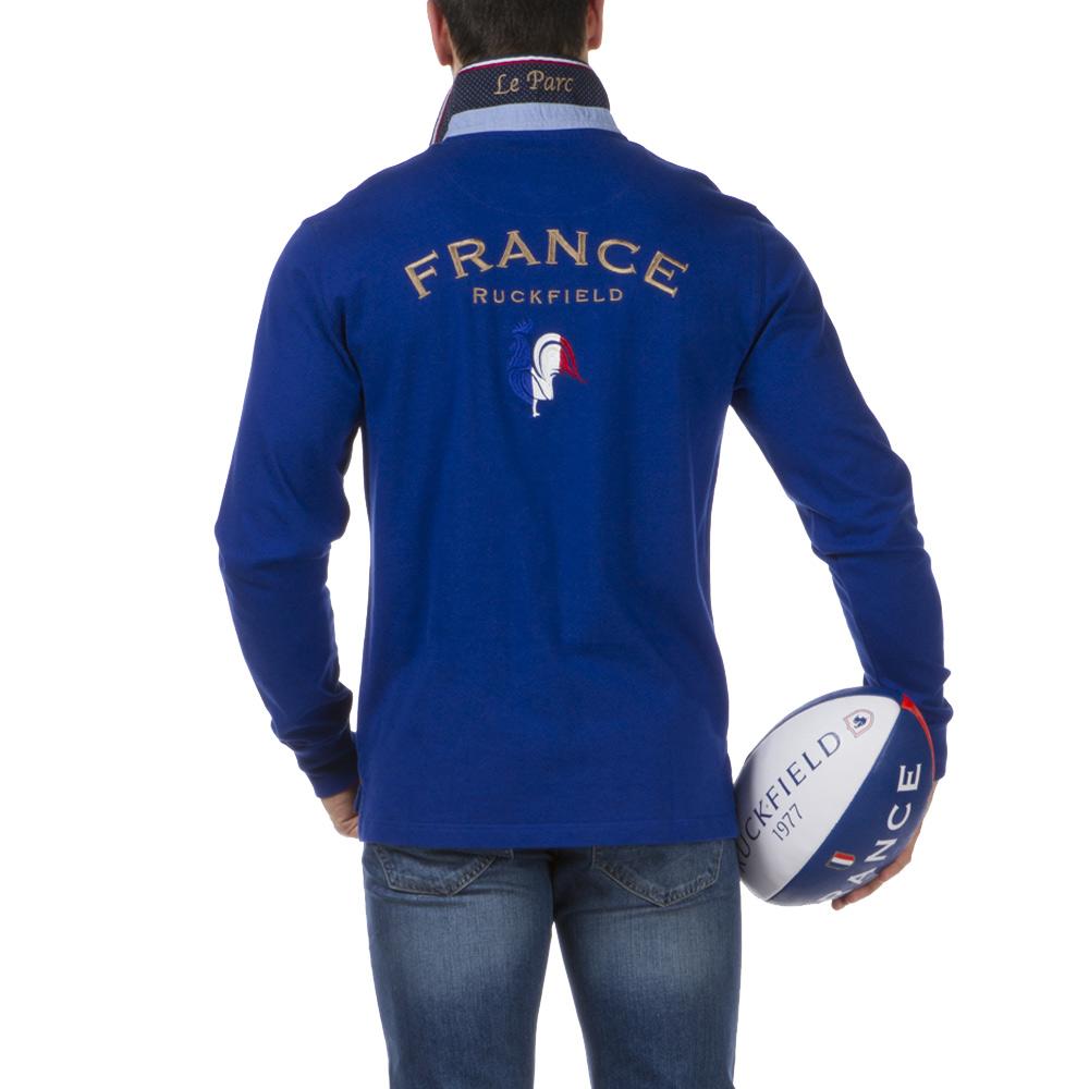 Ruckfield - Polo bleu French Rugby Club - Bleu
