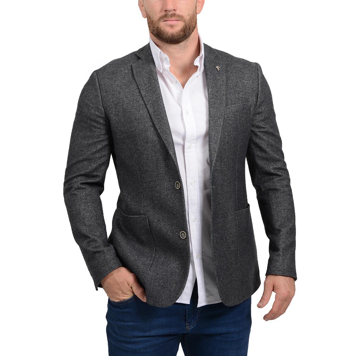Ruckfield - Veste de costume d'hiver grise - Gris