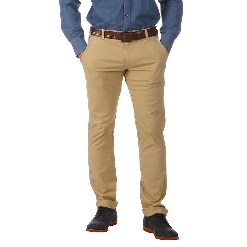 Pantalon homme chino beige ruckfield - Pantalon multipoche homme ...