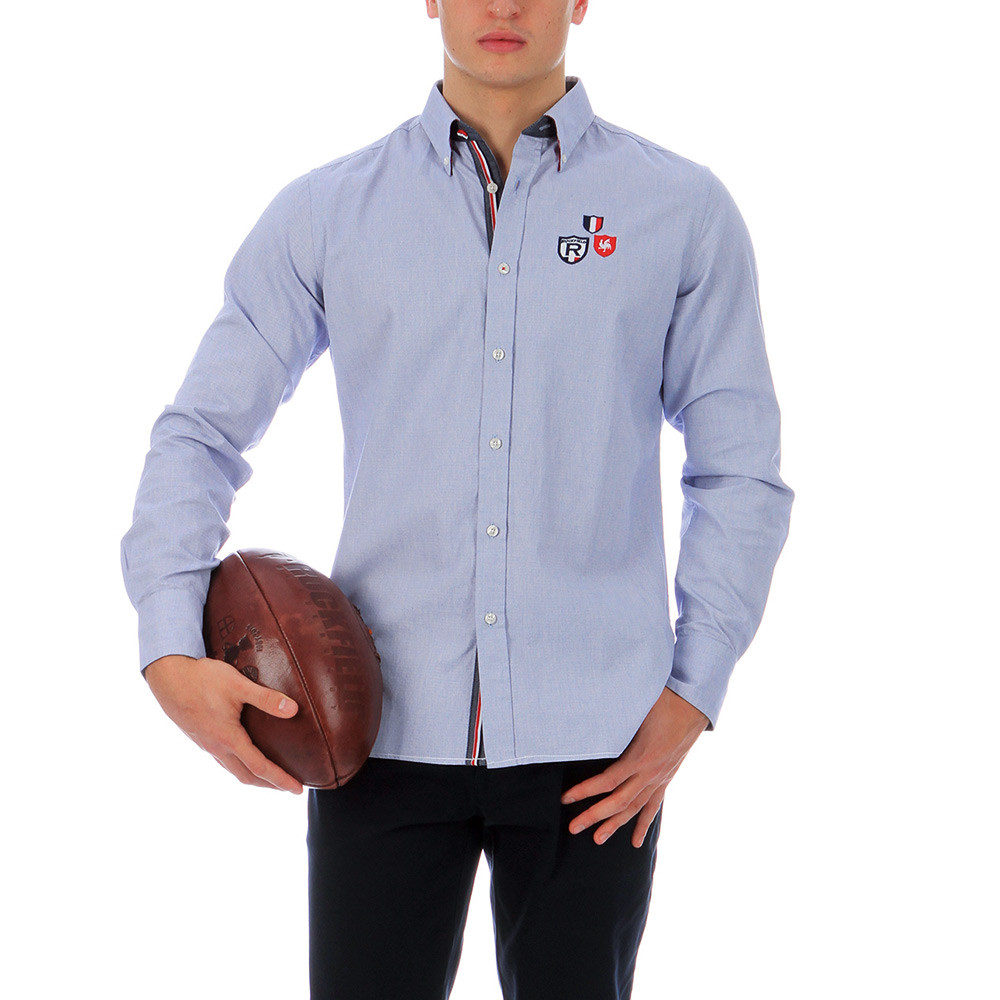 chemise de rugby france bleu chemise rugby manches longues hauts homme ruckfield. Black Bedroom Furniture Sets. Home Design Ideas