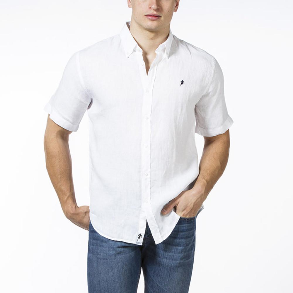 chemise en lin blanc homme ruckfield. Black Bedroom Furniture Sets. Home Design Ideas