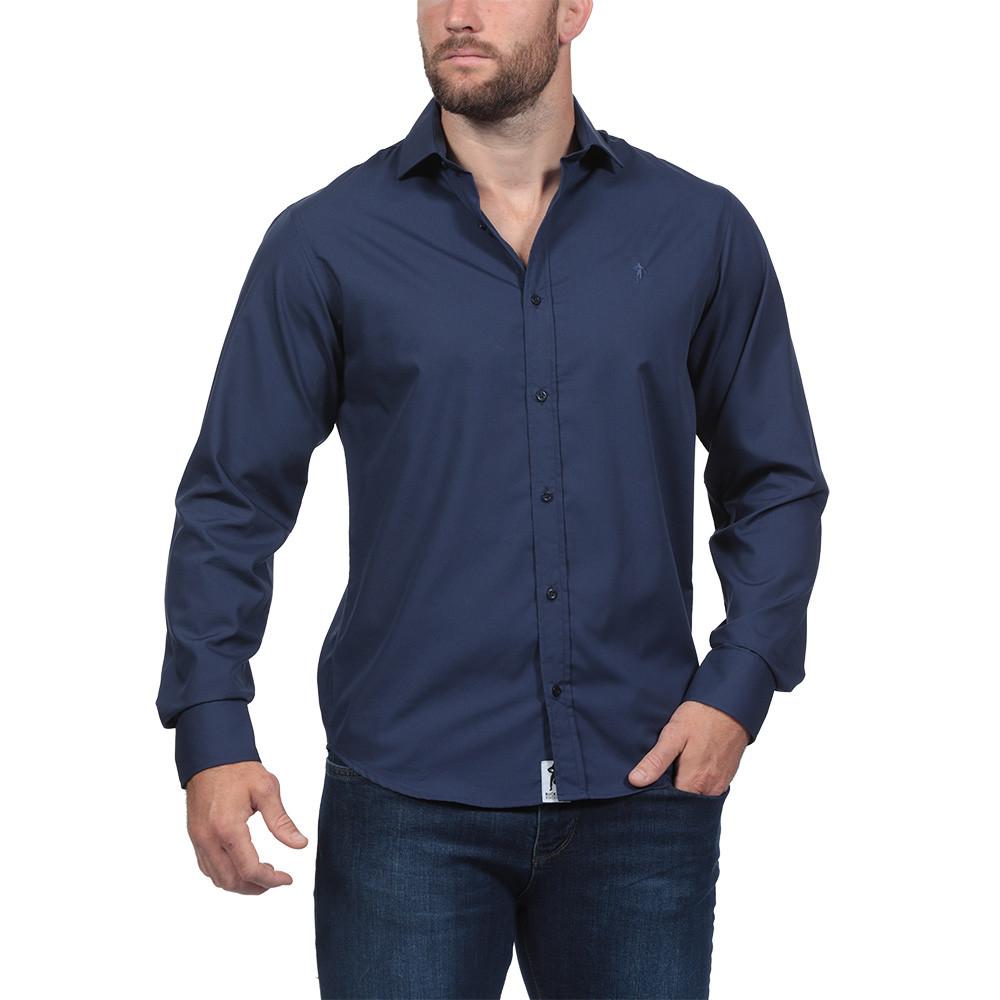 chemise bleu marine infroissable ruckfield. Black Bedroom Furniture Sets. Home Design Ideas