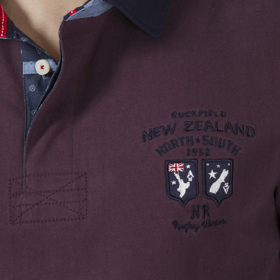 Ruckfield Polo Rugby Bordeaux Outdoor - Rouge EbOiYsC