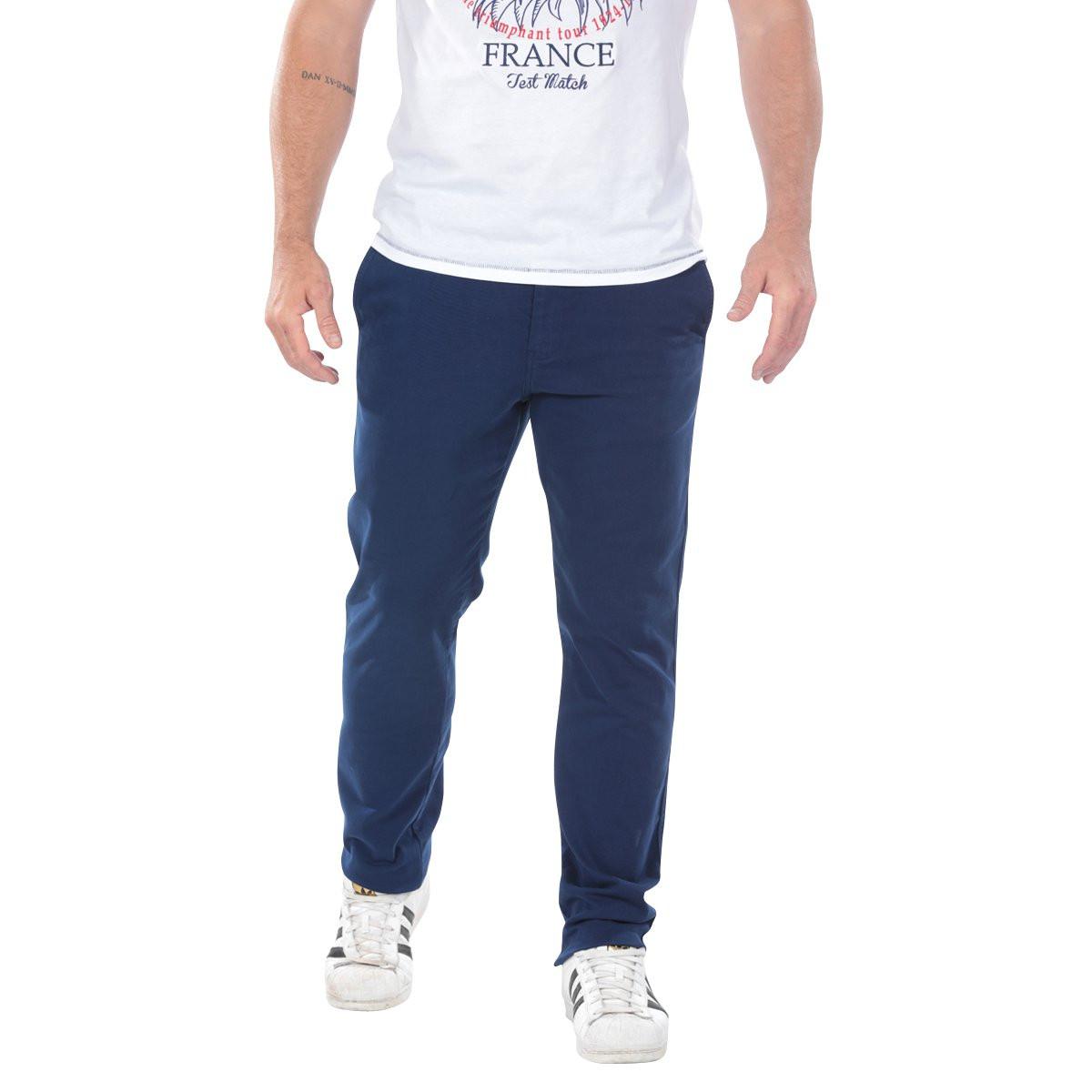 pantalon chino bleu marine bas homme ruckfield. Black Bedroom Furniture Sets. Home Design Ideas