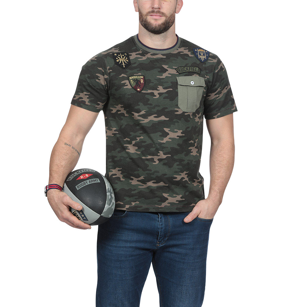 t shirt camouflage t shirt hauts homme ruckfield. Black Bedroom Furniture Sets. Home Design Ideas