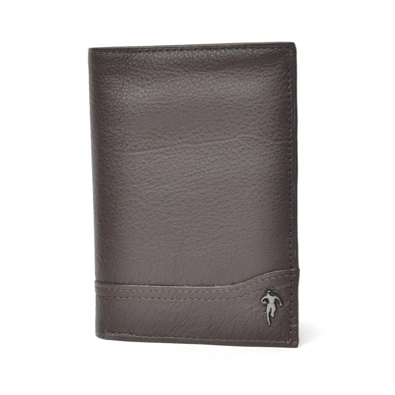 Mini portefeuille en cuir marron