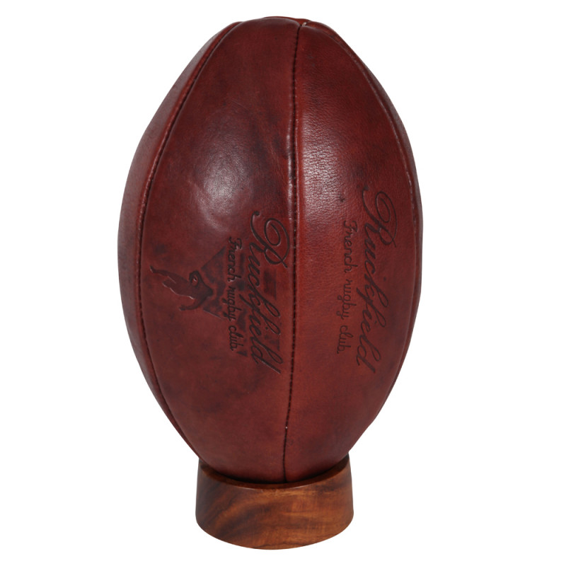 Ballon rugby cuir vintage ruckfield - Ballon rugby vintage ...