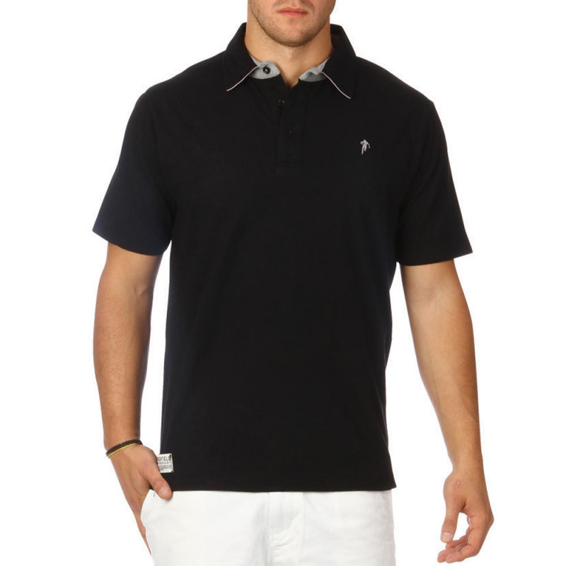 Polo Jersey Basic Noir