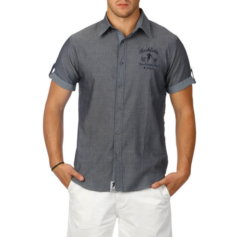 Chemise Tackle Bleue