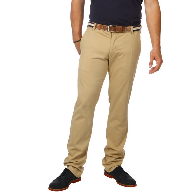 Pantalon Chino Essentiel Beige