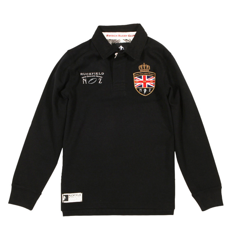 Polo Rugby Kids Noir