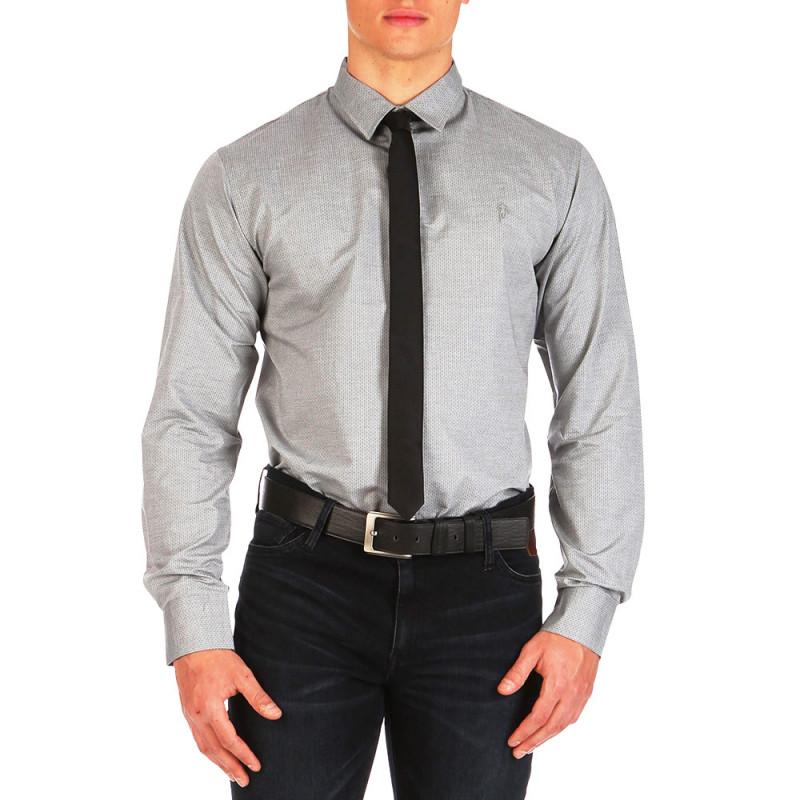Chemise After Match à motifs Gris