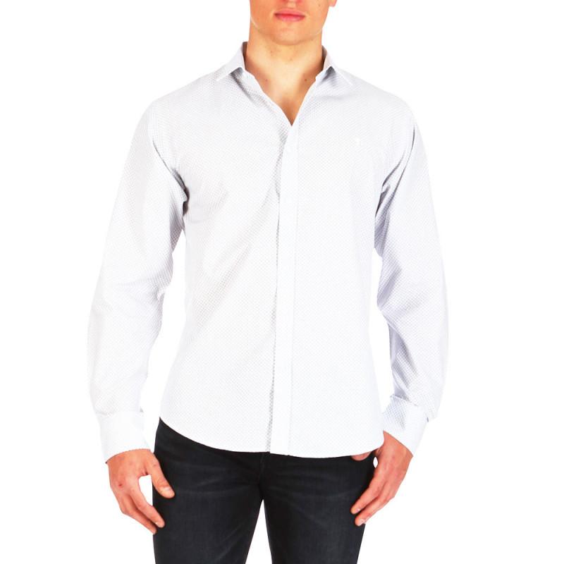 Chemise After Match à motifs Blanc