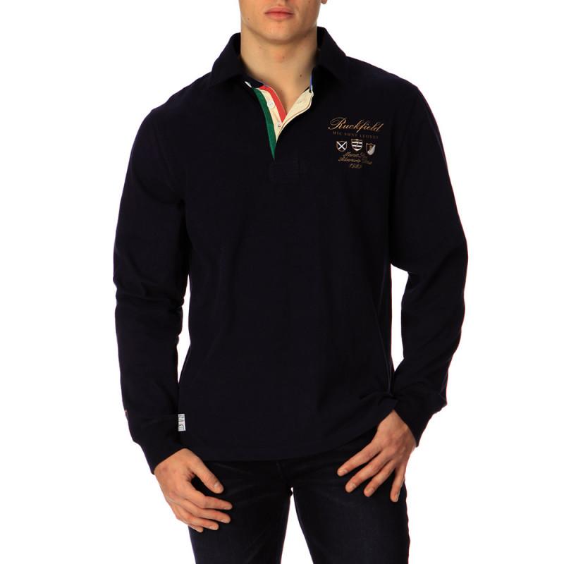 Polo bleu marine Rugby Italia