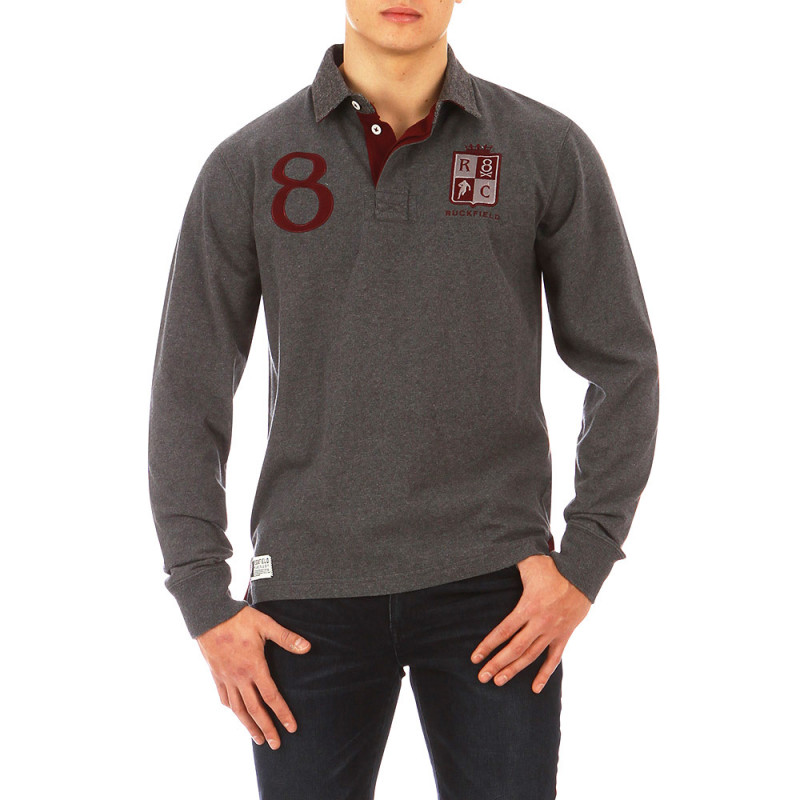 Polo Rugby British gris chiné