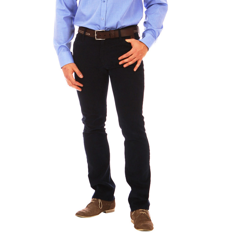 Pantalon 5 poches Rugby Marine