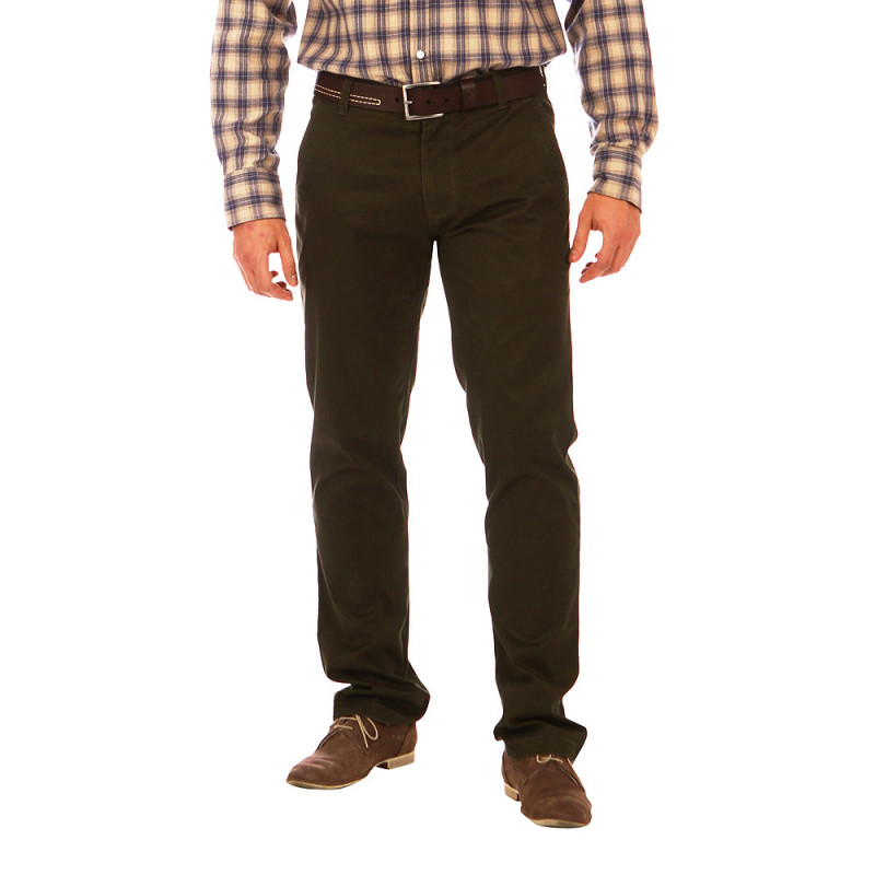 Pantalon chino kaki Rugby Essentiel