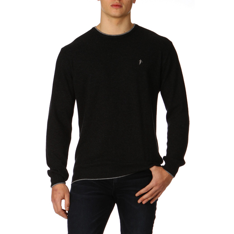 Pull col rond Anthracite Rugby