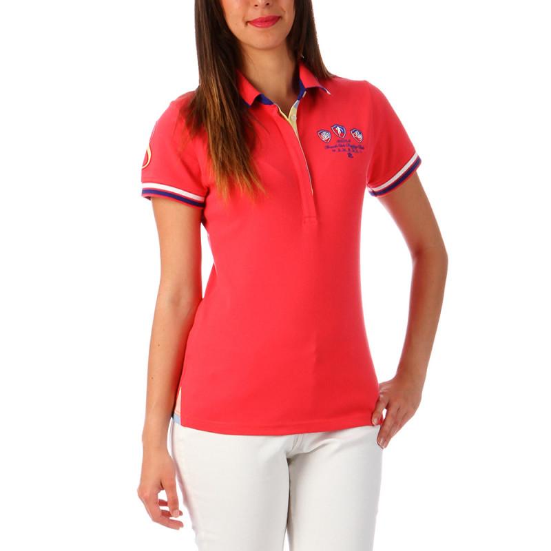 Polo femme sportwear fuchsia