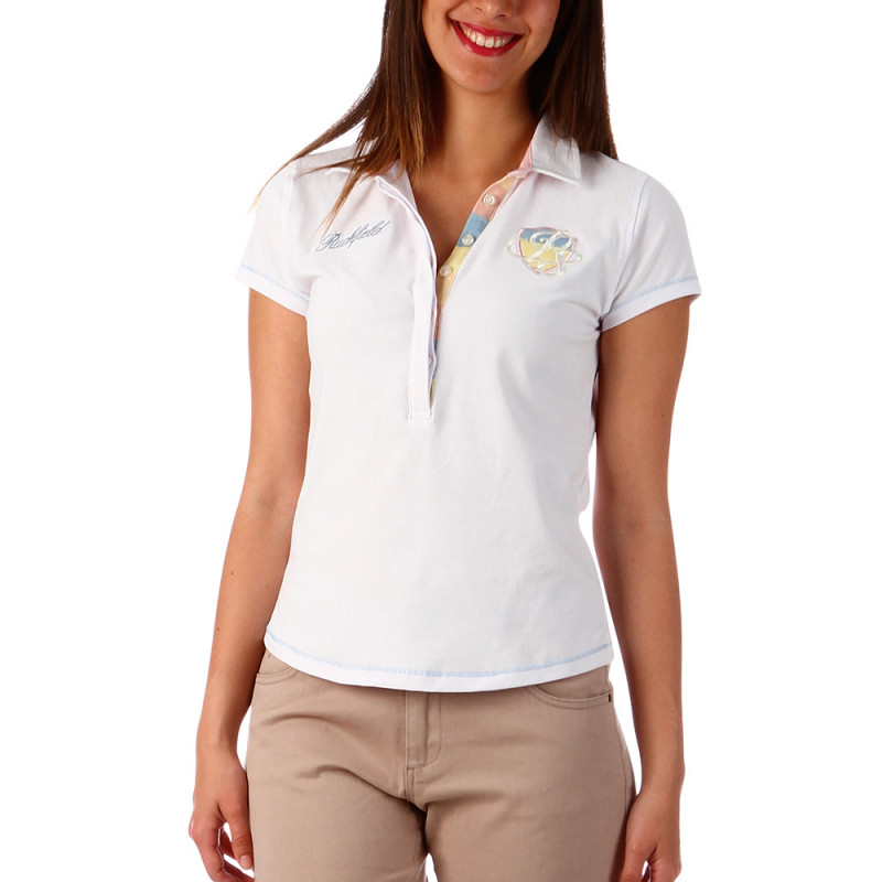 Polo rugby femme blanc