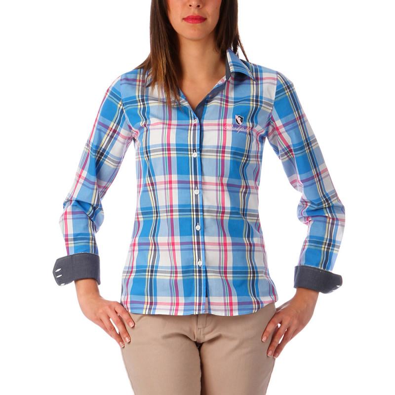 Chemise rugby femme à carreaux