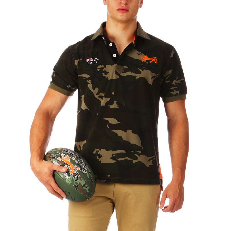 Polo camouflage Rugby Camps