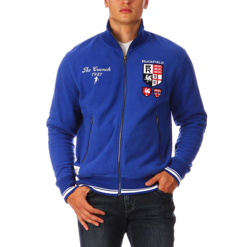 Sweat zippé bleu France