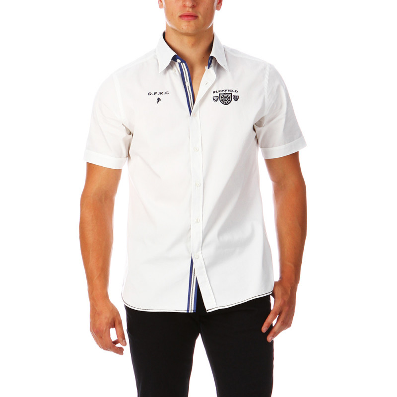 Chemise de rugby blanche