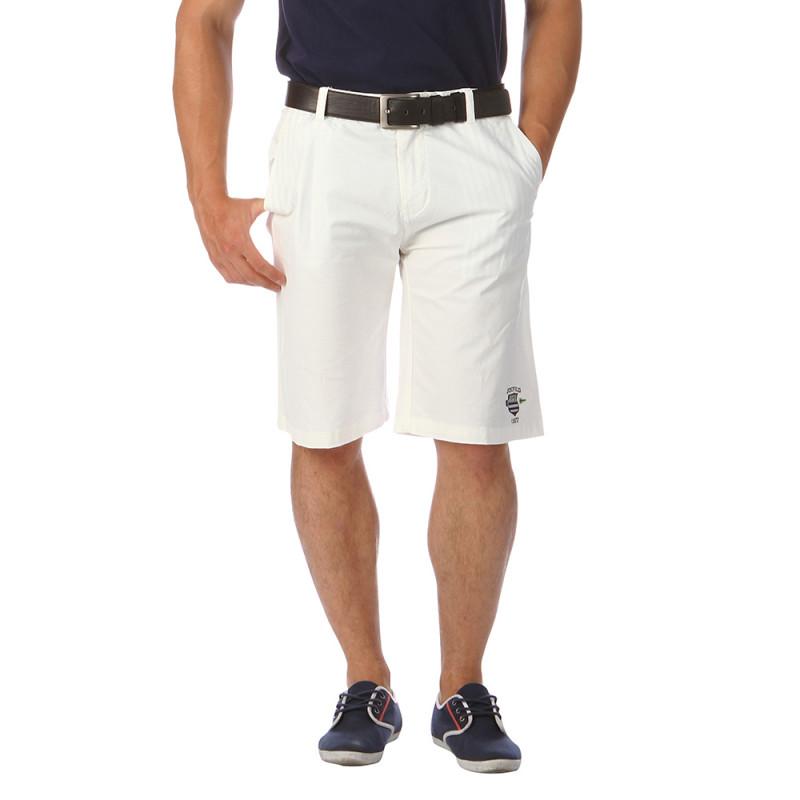 Bermuda homme coton blanc