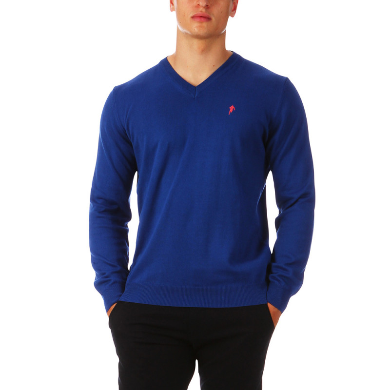 Pull homme col V Chabal