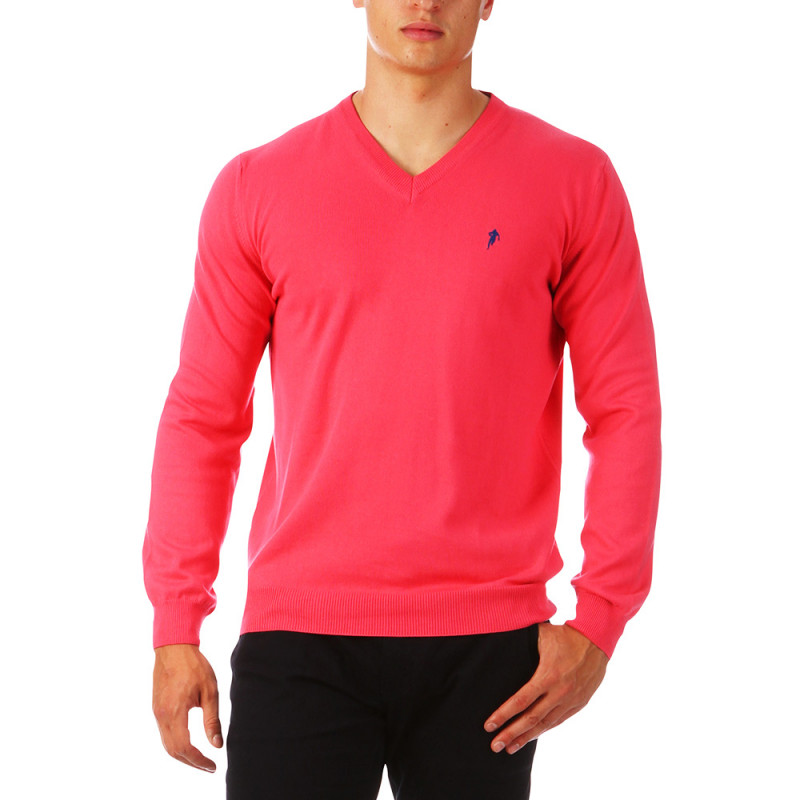 Pull homme col V Rugby