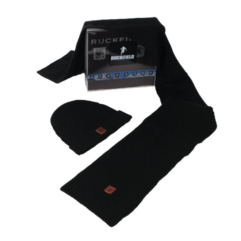 Pack bonnet + écharpe noir