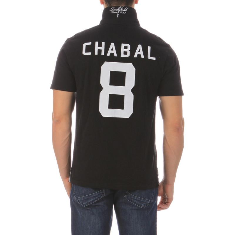 Polo de rugby noir Chabal