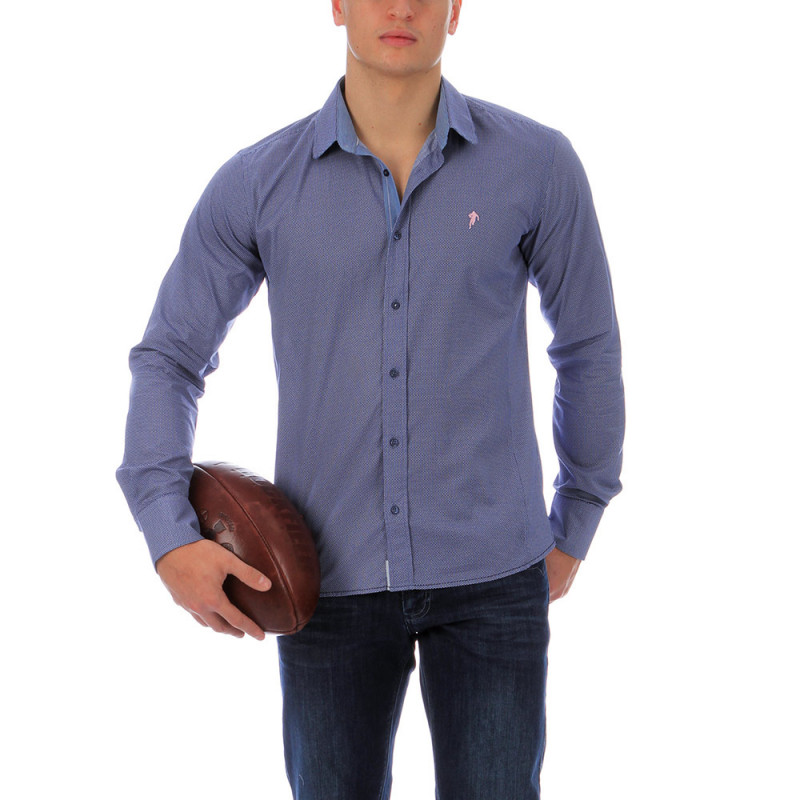 Chemise Ruckfield mid fit bleu