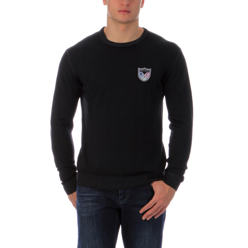 Pull noir col rond Ruckfield