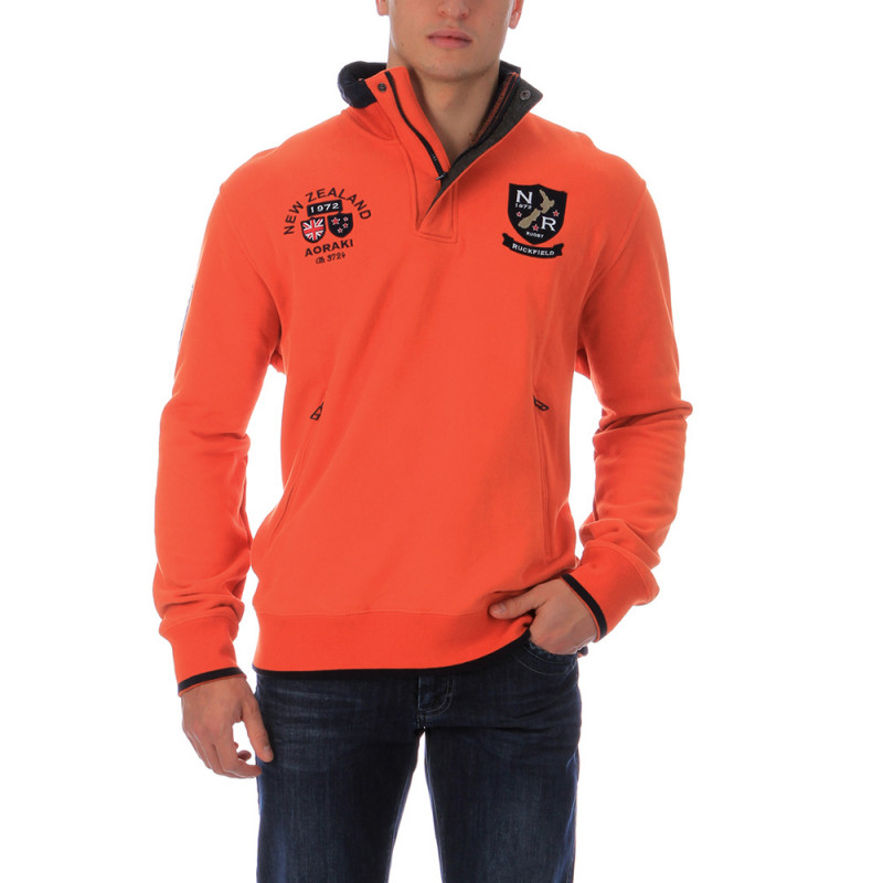 Sweat de rugby camp orange