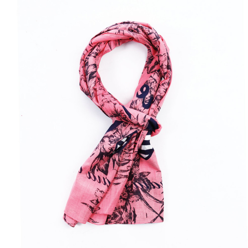 Foulard rugby plage rose