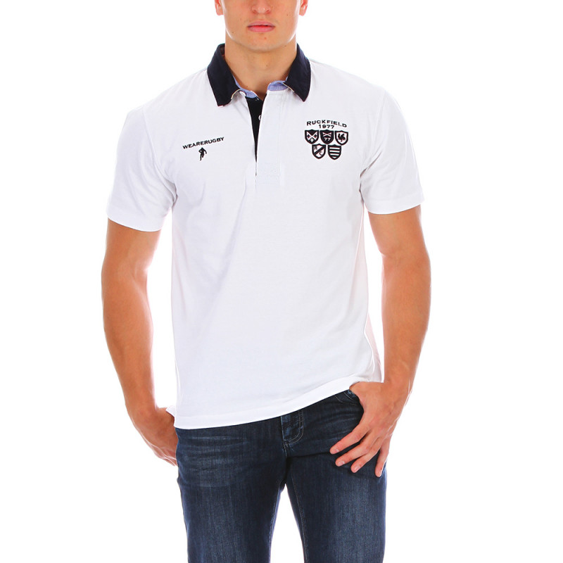 Polo rugby blanc 1977