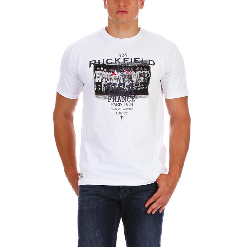 T-shirt USA rugby blanc