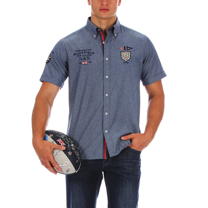 Chemise chambray rugby
