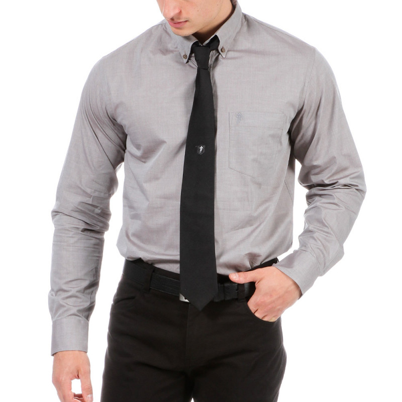 Chemise homme gris Rugby