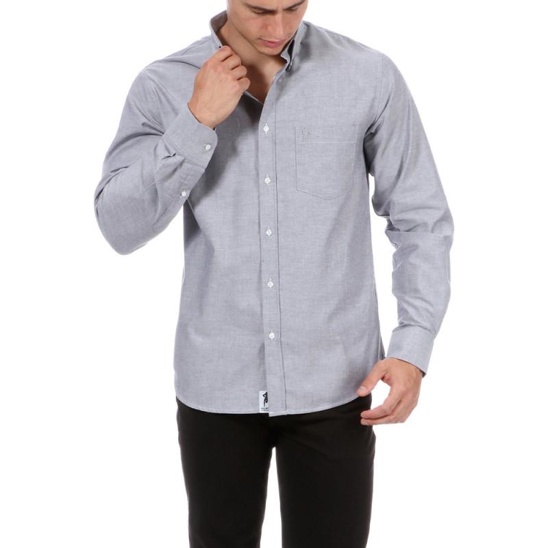 Chemise grise avec poche Chabal