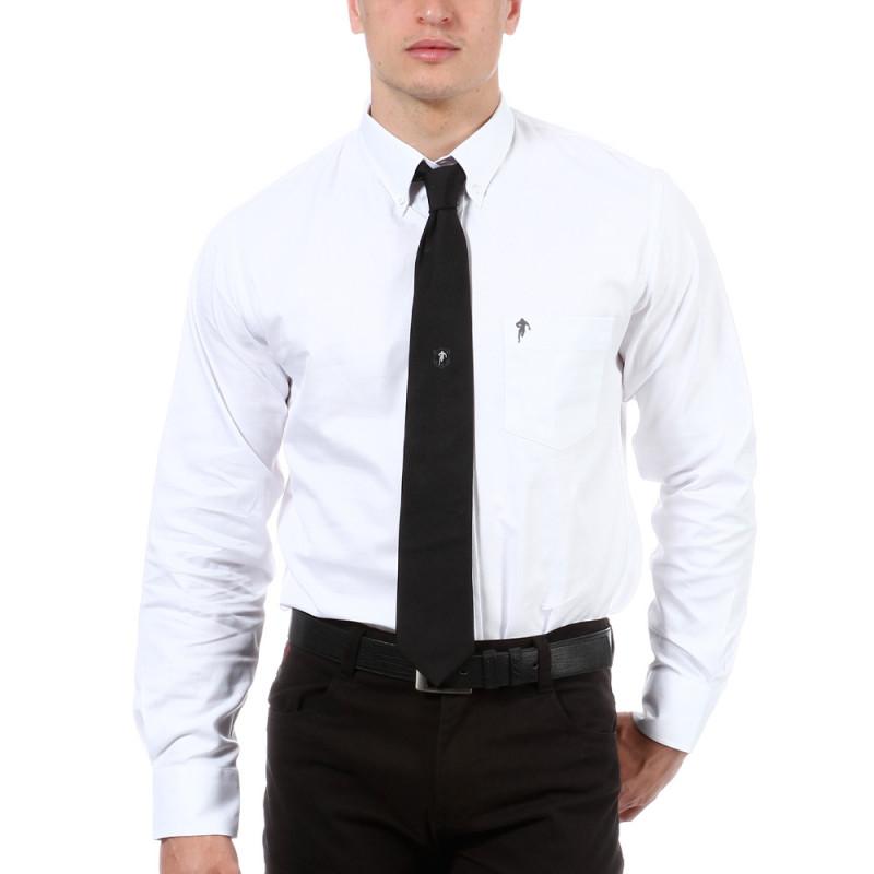 Chemise blanche avec poche poitrine