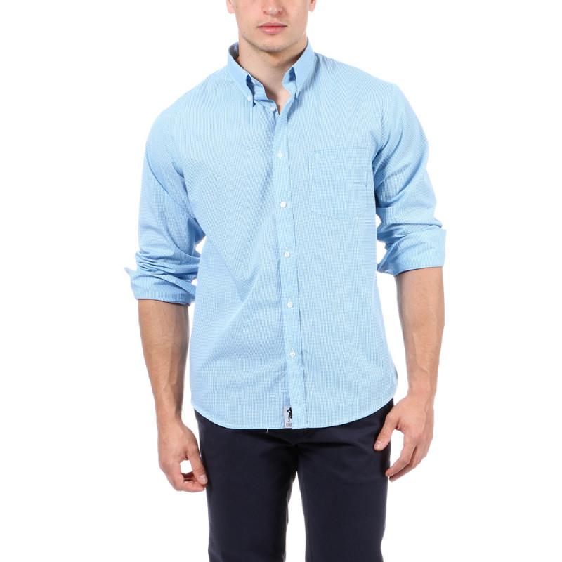 Chemise d'été vichy bleu Ruckfield