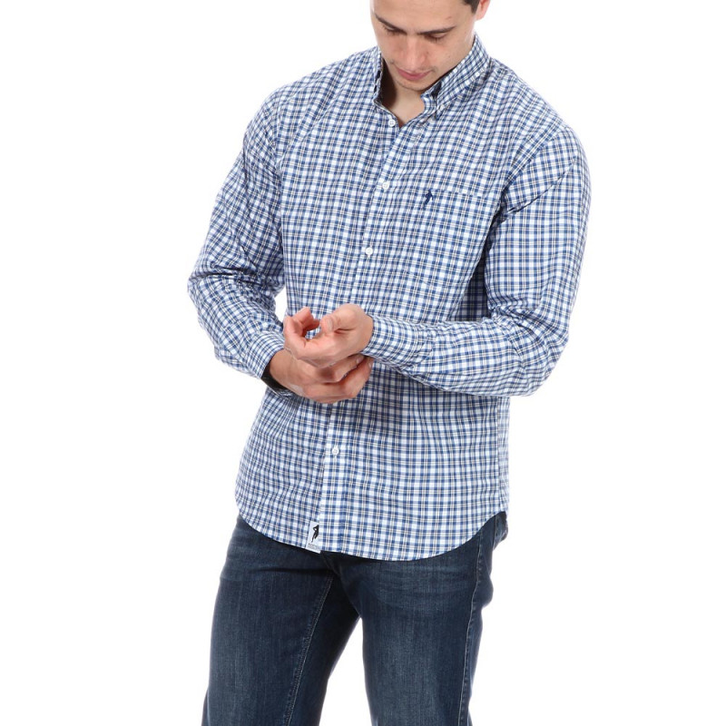 Chemise bleue à carreaux Ruckfield