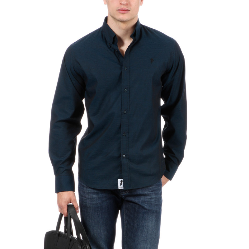 chemise bleu marine chabal ruckfield. Black Bedroom Furniture Sets. Home Design Ideas