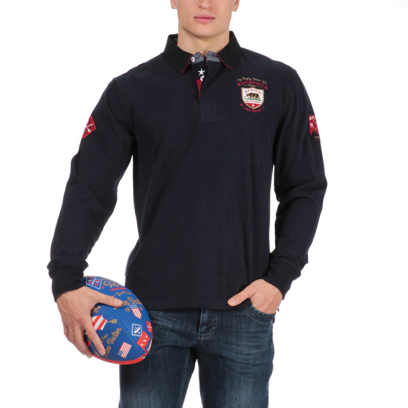 Polo bleu marine outdoor rugby