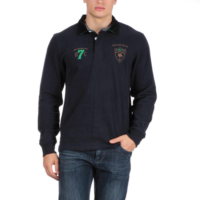 Polo bleu Rugby Seven