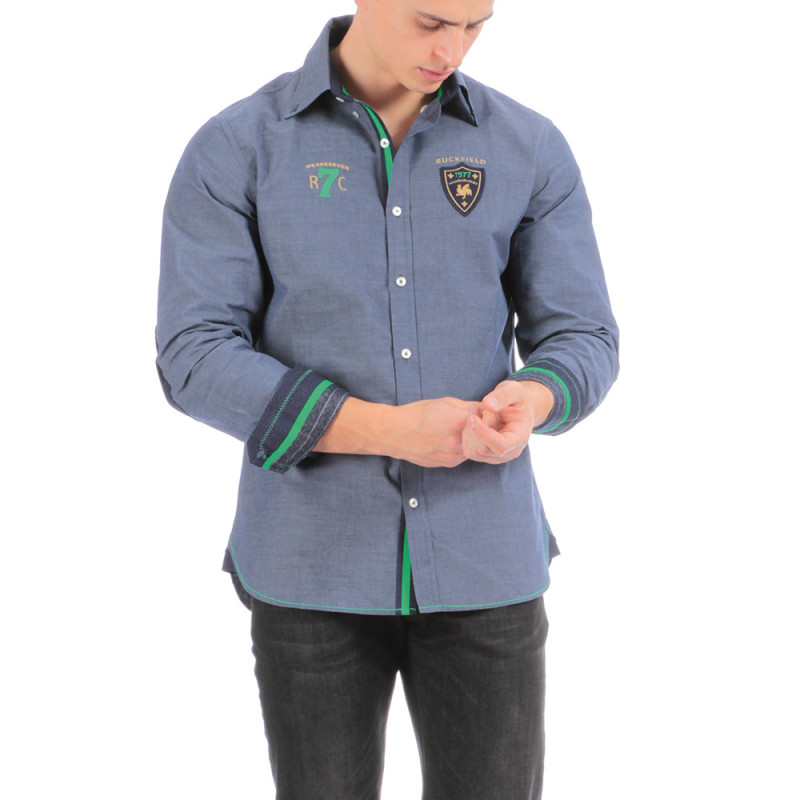 Chemise bleue Rugby Seven